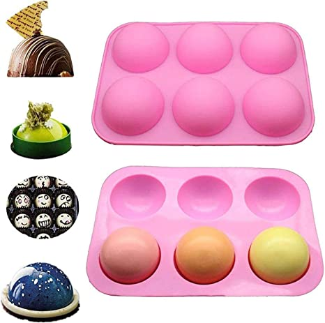 purple1 Semi Sphere Silicone Mold,Chocolate Bomb Mold Cake Dome Mousse Cocoa Bombs Chocolate Desserts Soap Baking Mold for Making Chocolate Bombs Jelly Half Circle Baking Tray for Teacake