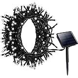 Litom Guirlande Lumineuse Solaire, 200 LED Blanc Guirlande Solaire Extérieur, Longueur 22M, avec 8 Modes de Travail pour Décoration Jardin, Maison, Fête, Soirée