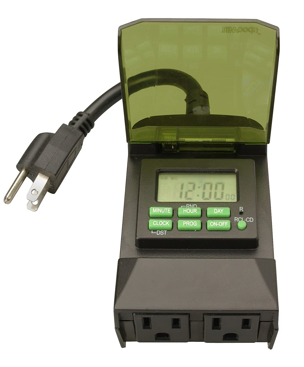 Woods 50014wd outdoor 7 day digital plug in timer 2 grounded woods 50014wd outdoor 7 day digital plug in timer 2 grounded outlets amazon workwithnaturefo