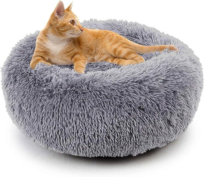 Sugar Pet Shop Cama de malvavisco para Gatos – Camas calmantes para Gatos de Interior de Felpa, cojín de Piel sintética calmar la Cama para el Alivio ortopédico: Amazon.es: Productos para mascotas