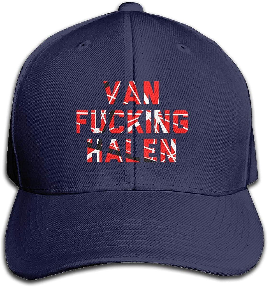 Van Fucking Halen VH Baseball Cap Graffiti Classic Novelty Black Dad Cap for Guys Unisex Adult