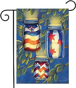 "Briarwood Lane Patriotic Luminaries Summer Garden Flag Fourth of July Lanterns 12.5"" x 18"""