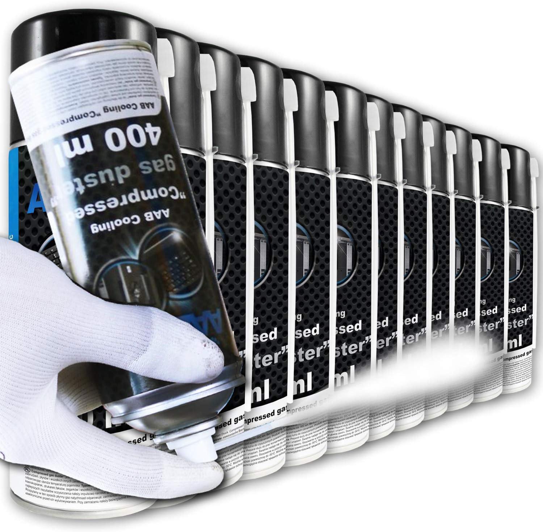 Kit de Cong/élation Spray de Frio Spray Cong/élateur /à Tube Bombe de Froid Pr/éparation pour Le Nettoyage et la Cong/élation Spray R/éfrig/érant 4 Pi/èces AAB Compressed Gas Duster 400ml
