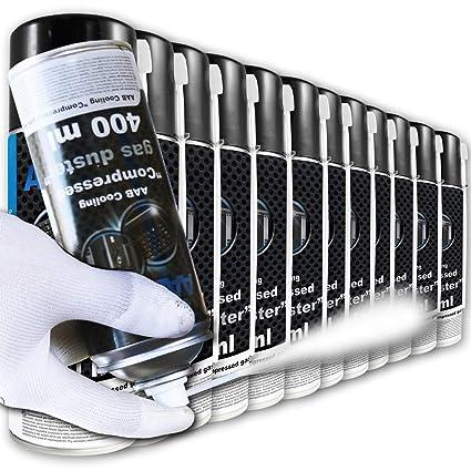 AAB Cooling Compressed Gas Duster 400ml - Conjunto de 12 - Spray ...