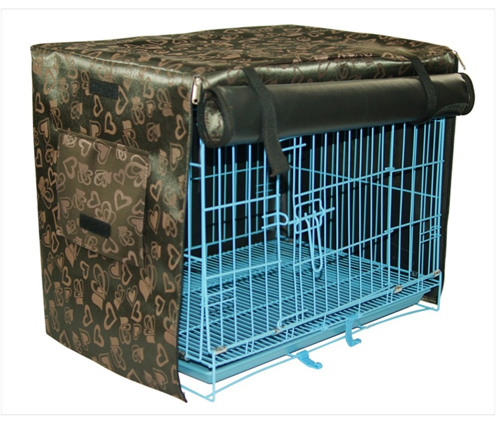 WowowMeow Pet Waterproof Kennel Crate Cover for Wire Crates (XL, Coffee)