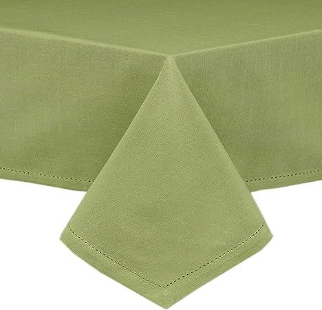 Lintex Mantel y servilletas de Tela de Punto de cáñamo, fácil Cuidado, Mezcla de algodón, manteles y servilletas con Costuras de Dobladillo y Esquinas ingeridas: Amazon.es: Hogar