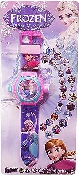 Buycrafty Frozen Cartoon imágenes Proyector Reloj Niños Reloj ...