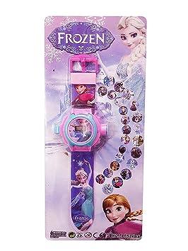 Buycrafty Frozen Cartoon imágenes Proyector Reloj Niños ...