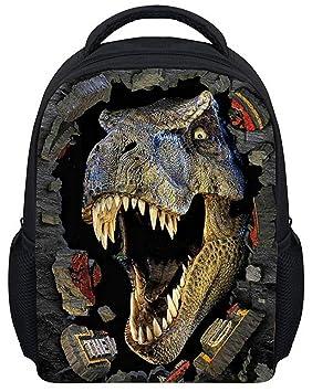 jilesm Cool 3d dinosaurio impreso lienzo mochila mochila escolar: Amazon.es: Deportes y aire libre
