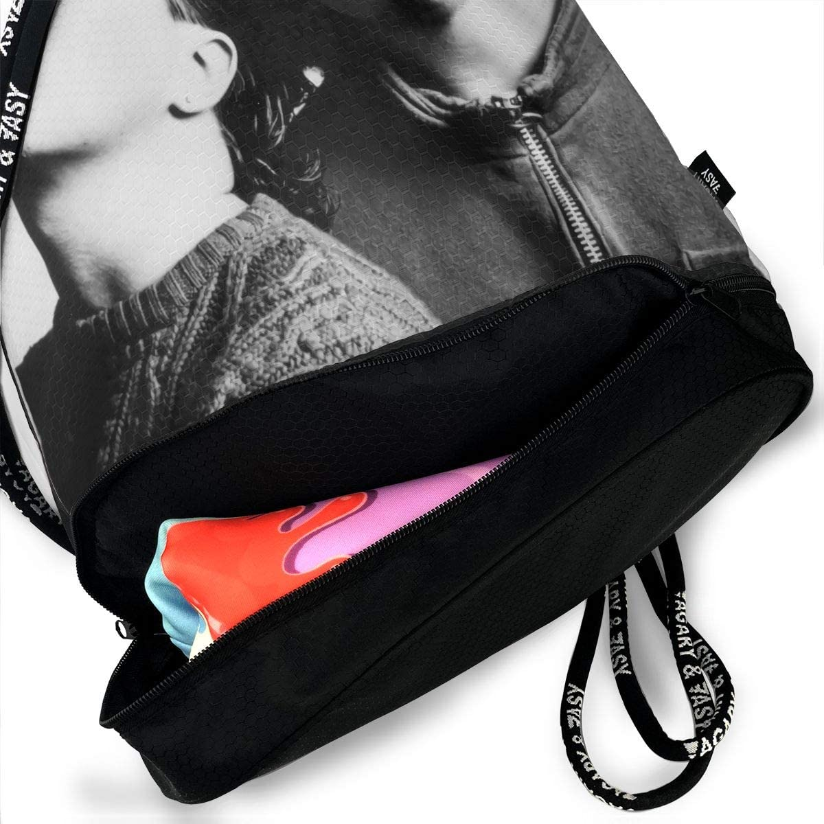Thomas C Gaona Tears for Fears Original Shoulder Bag Drawstring Backpack Beam Mouth Single Pocket Outdoor Shopping Bag Backpack