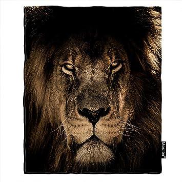 Amazon.com: Moslion - Manta de león, diseño de rey salvaje ...