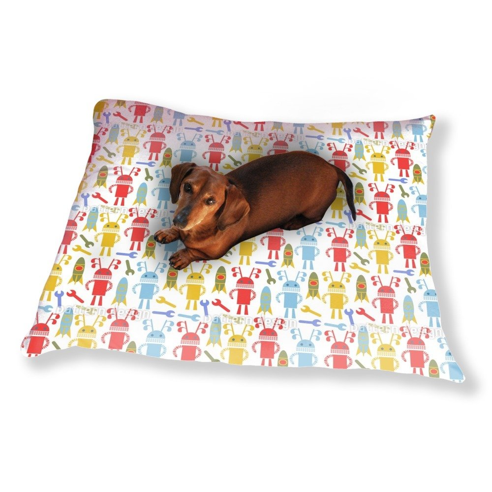 Robots and Rockets Dog Pillow Luxury Dog / Cat Pet Bed