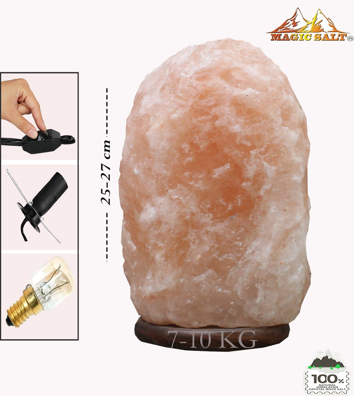 Magic salt blanco L/ámpara de sal himalaya l/ámpara natural cristal rock sal l/ámpara Con interruptor dimmer 3-5 kg Lamp