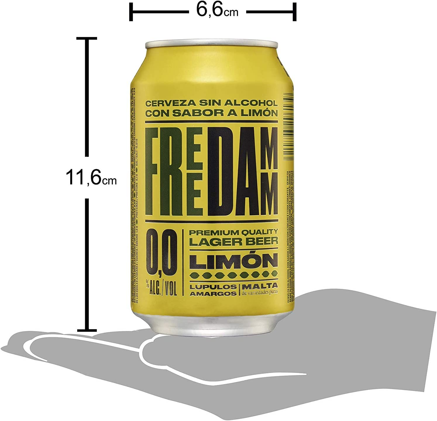Free Damm Cerveza sin Alcohol con Sabor Limón, 24 x 33cl
