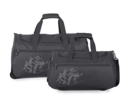 97a67a5ffeb1 Nasher Miles Flanders (45   55 CM) Polyester Soft-Sided Duffle Bag Set of 2  Grey (Small   Medium)  Amazon.in  Bags