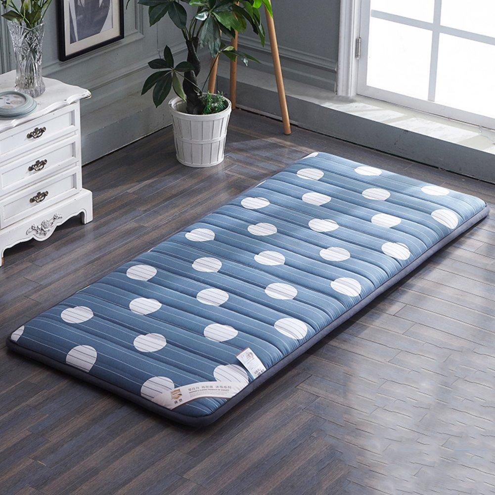 LJ&XJ 滑り止め マットレス パッド, 柔らかい 厚い 床 畳マットレス, ダニアレルギー対策 アンチ バクテリア マットレス トッパー-B 90*200cm B07F131PF2B 90*200cm
