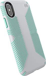 Speck Products Presidio Grip iPhone Xs/iPhone X Case, Dolphin Grey/Aloe Green (117124-6249)