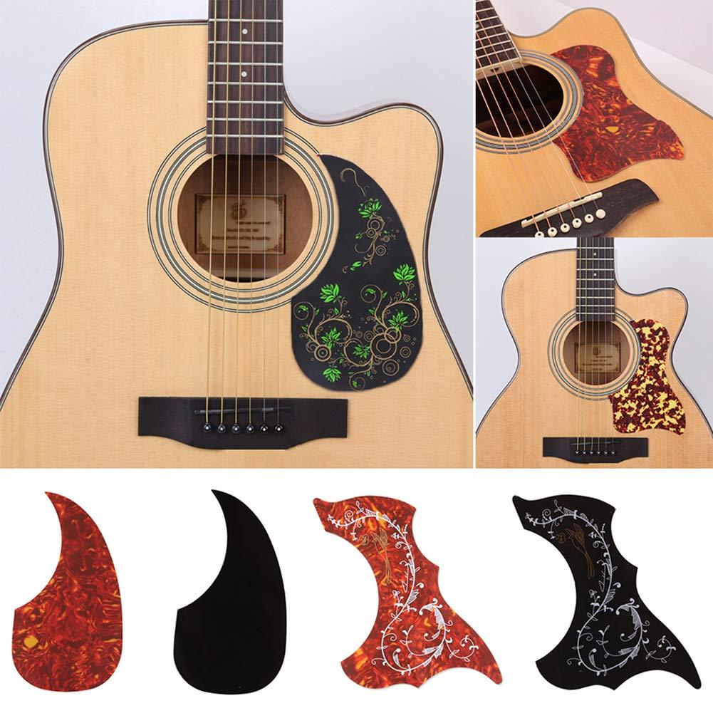 1# SoundsBeauty Acoustic Folk Guitar Pickguard Celluloid Pick Guard Board Sticker Instrument Accessory