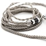 Linsoul Tripowin Zonie 16 Core Silver Plated Cable SPC Earphone Cable (MMCX-3.5mm, Grey)