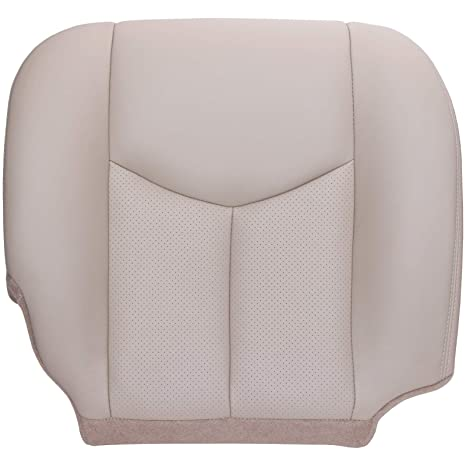 PERFORATED Leather SeatCover Shale 1999-2002 Cadillac Escalade Driver Bottom