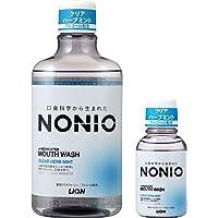 【Amazon.co.jp限定】 NONIO(ノニオ) [医薬部外品]マウスウォッシュ クリアハーブミント洗口液 600ml 洗口液+ミニリンス80ml