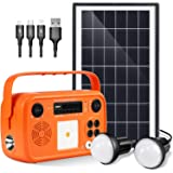 Portable Power Station With Solar Panel Kit Solar Generator Included Battery Generator Camping Generator Solar Panels For Hom