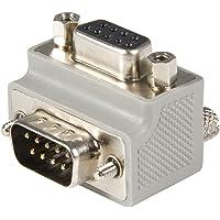 StarTech GC99MFRA2 Adaptador de Cable DB9 a DB9 Tipo 2 Acodado a la Derecha, Macho a Hembra