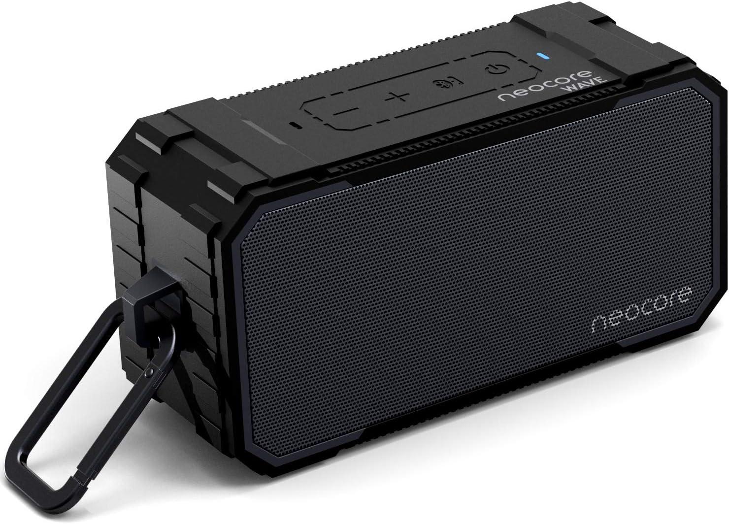 neocore Wave Altavoz portátil para Smartphones, Tablets y Dispositivos MP3(10 W, Bluetooth, Recargable, AUX, 24 Horas), Color Negro (Negro)