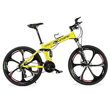 Extrbici FR100 Mans plegable Mounain marco de aleación de aluminio para bicicleta de 24 velocidades Shimano