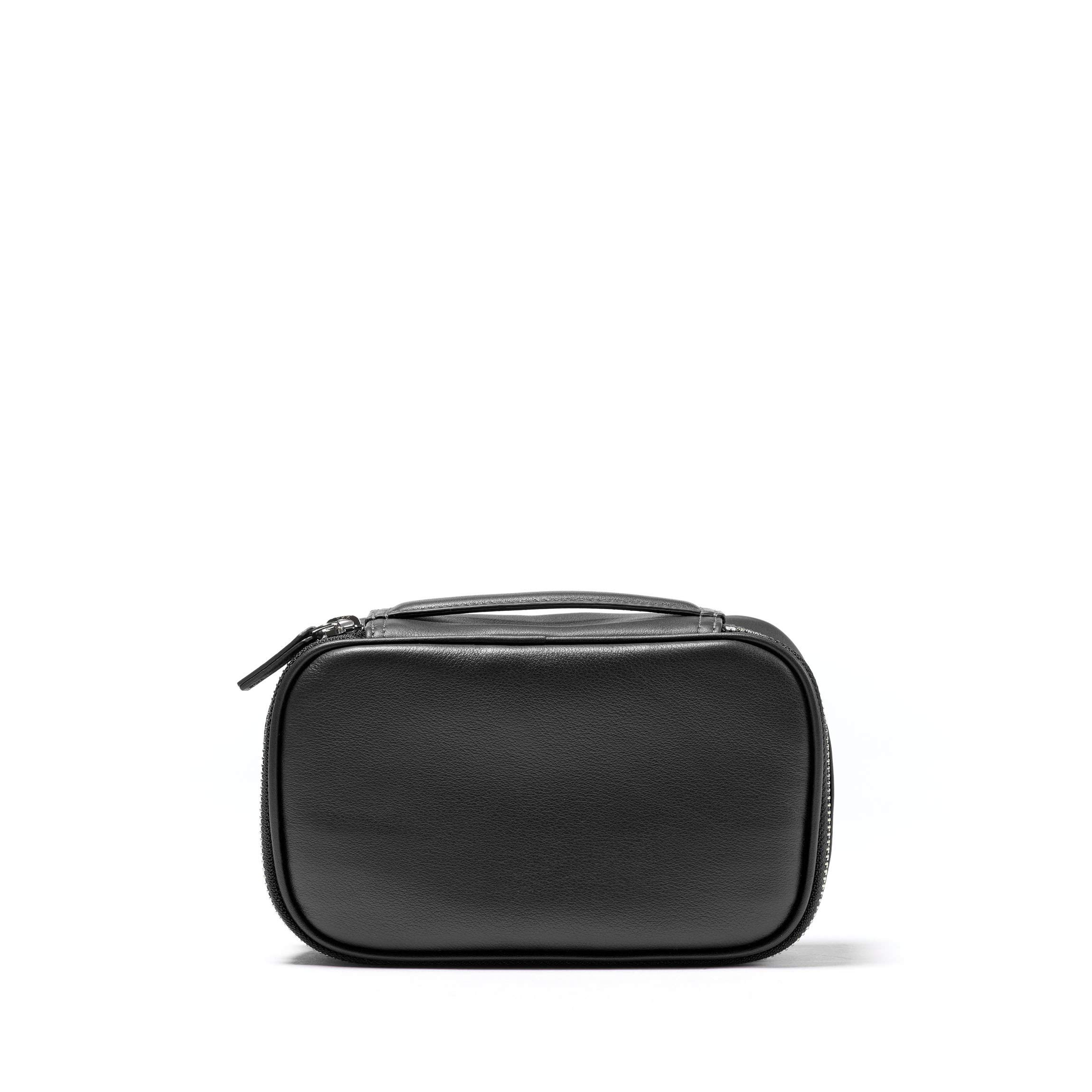 Leatherology Small Travel Organizer - Full Grain Leather Leather - Black Onyx (black)