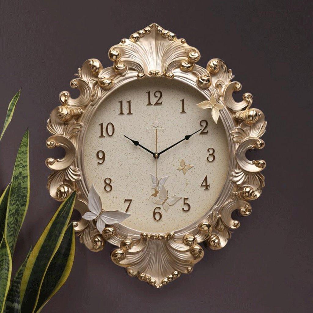 TXXM® ヨーロッパの壁時計の3Dステレオ超静かな時計のリビングルームのベッドルームレストランの時計ファッションアートの壁時計 (色 : A) B07F5YXCNQ A A