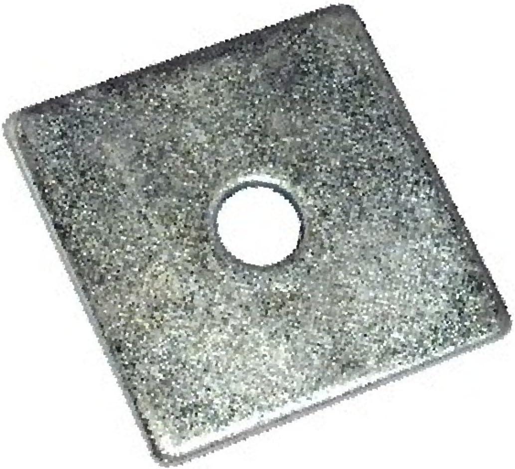 Pack de 50 50 mm x 50 mm x 16 mm Bright Zinc Plaqué Carré Plaque Rondelles-BZP *