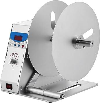NEW Digital Automatic Label Rewinder Tags Rewinding Machine w// Speed Adjustable
