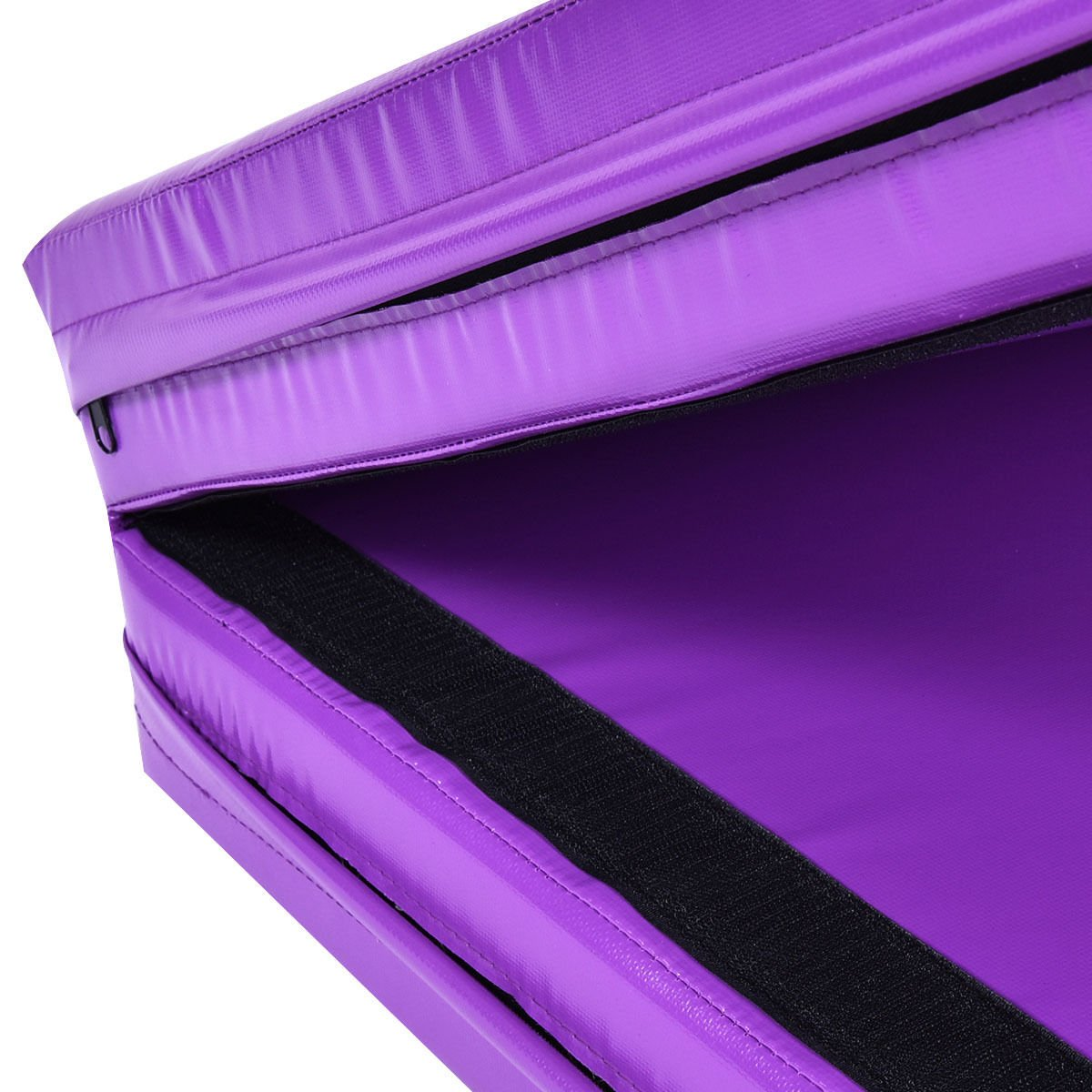 New 6'x38''X4'' Gymnastics Mat Thick Two Folding Panel Fitness Exercise Purple by MTN Gearsmith (Image #6)