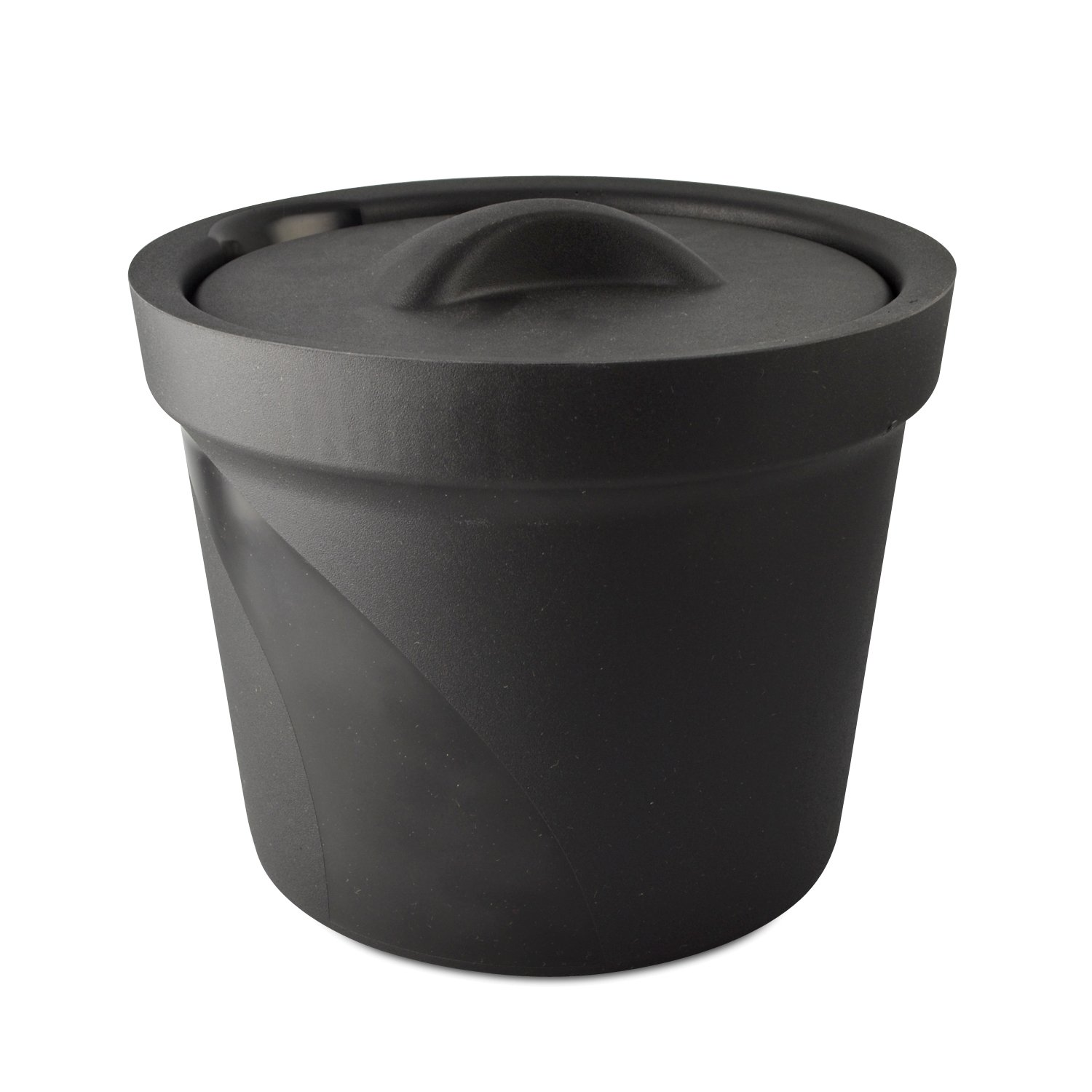 Bel-Art Magic Touch 2 High Performance Black Ice Bucket; 4.0 Liter, With Lid (M16807-4002)
