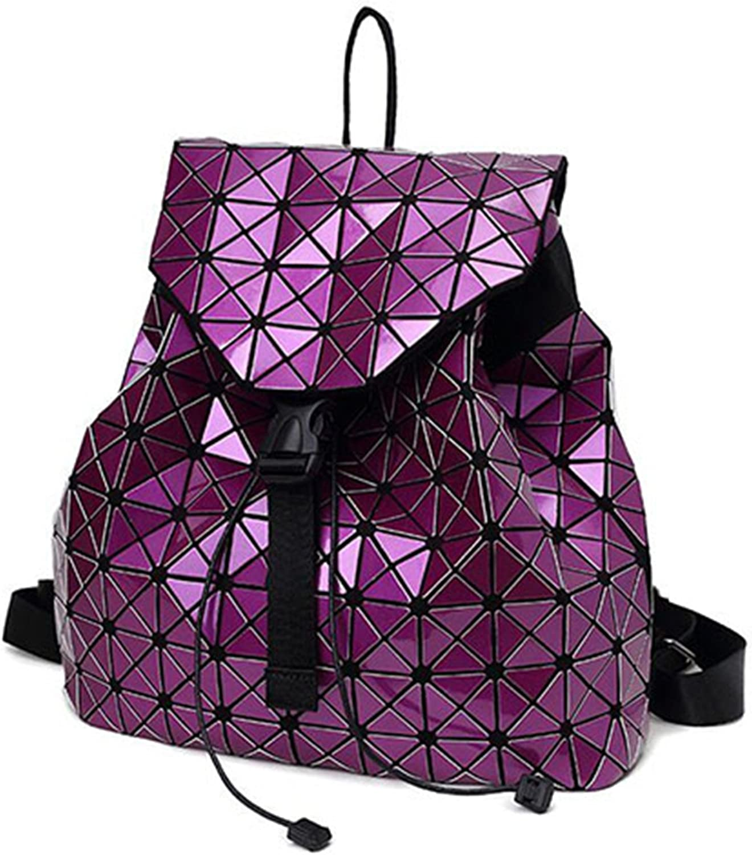 Toping Fine Feminine Geometric Plaid Sequin Female Backpacks For Teenage Girls Bagpack Drawstring Bag Holographic Backpack