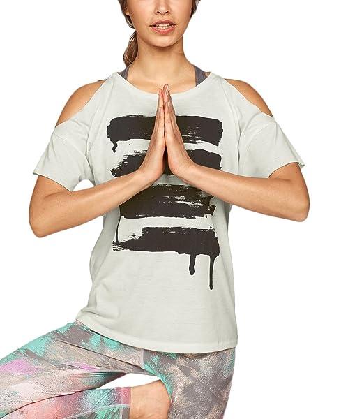 77b71b692cd916 HX fashion Magliette Donna Ragazza Estivi Girocollo Manica Corta T Shirt  Larghi Senza Spalline Top Stampato Casuali Eleganti Yoga: Amazon.it:  Abbigliamento