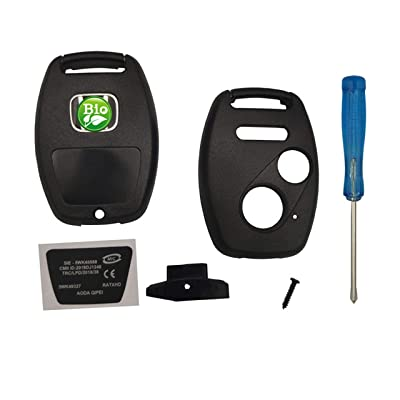Replacement For Honda 2+1 Buttons Keyless Entry Remote Key Fob Case Shell Fits Honda 2010-2011 Accord Crosstour 2006-2011 Civic 2007-2013 CR-V 2011-2015 CR-Z 2009-2013 Fit 2011-2014 Odyssey(1 black): Automotive