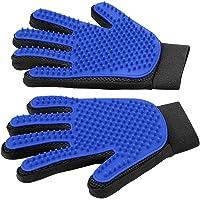 Delomo Pet Grooming Gloves (Blue)