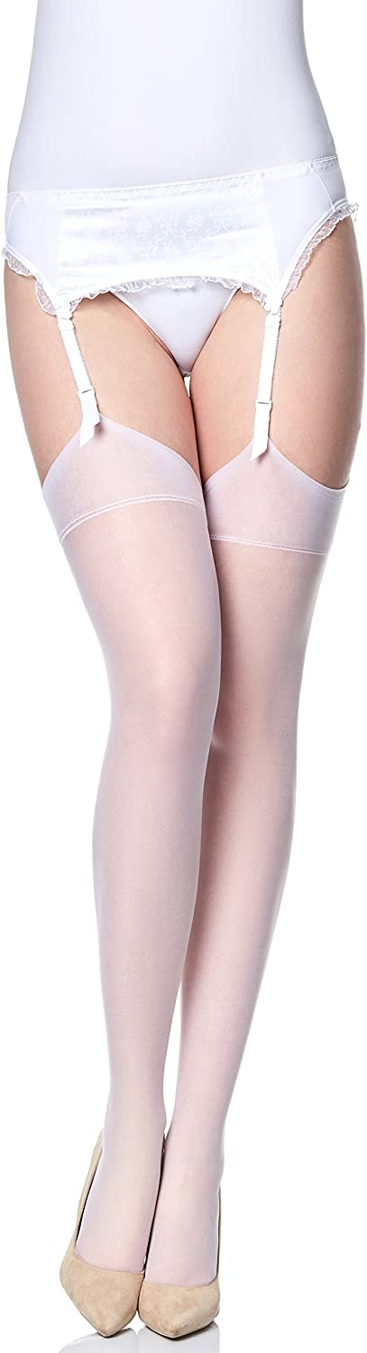Merry Style Womens transparent Suspender Stockings MS 226 15 DEN