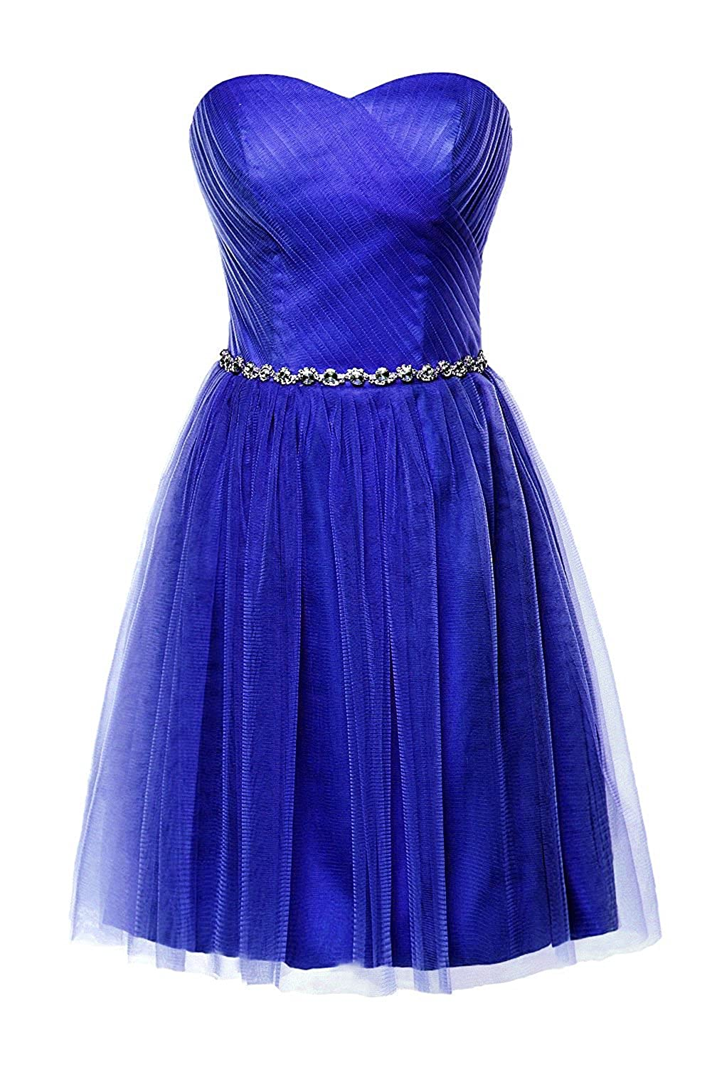 Royal bluee Victoria Prom Women Short Bridesmaid Dress for Junior Sweetheart Beads Girls Party