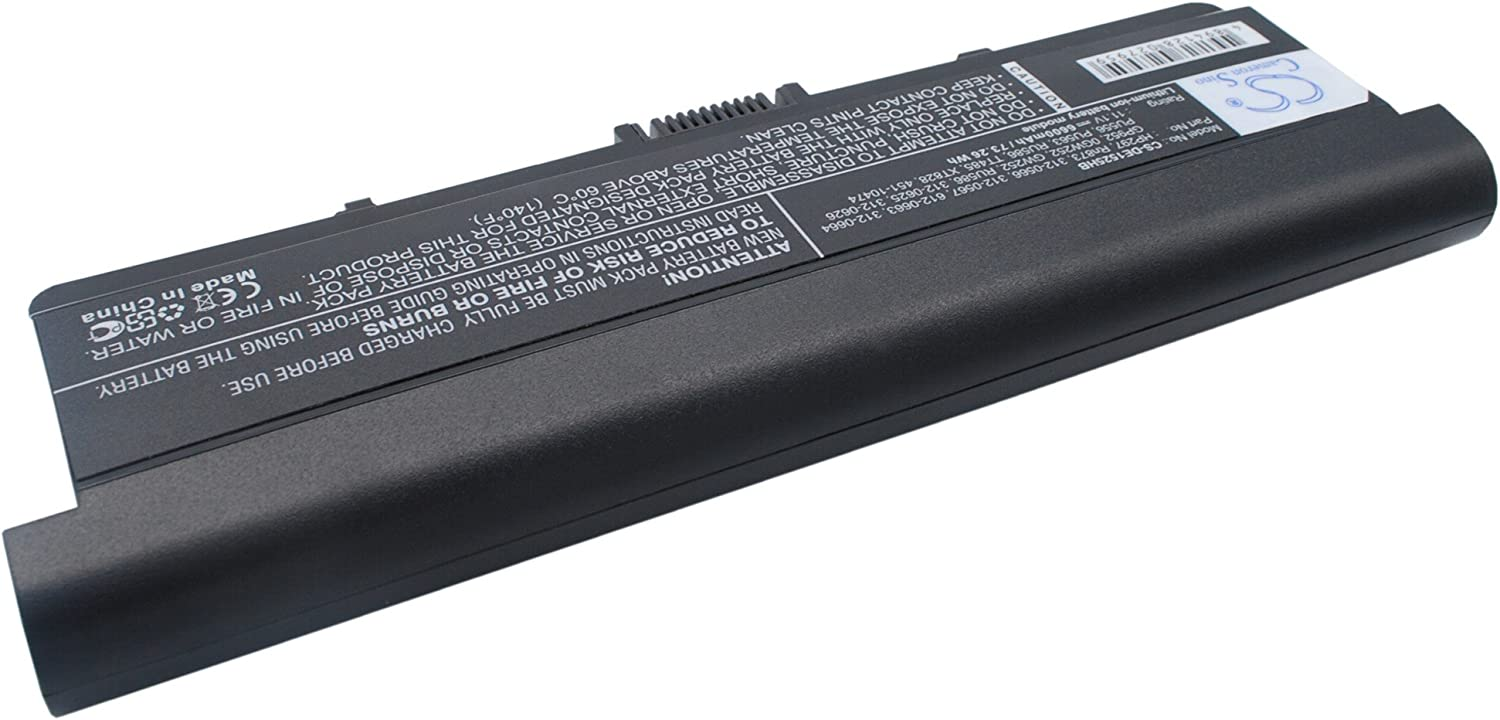 GAXI Battery for DELL Inspiron 1525, Inspiron 1526, Inspiron 1545 Replacement for P/N 0GW252, 312-0566, 312-0567