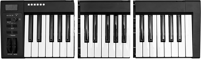 Amazon Com Kombos Wireless Modular Keyboard 37 Key Portable Usb Bluetooth Midi Keyboard With Full Size Semi Weight Keys Ios Android Compatible Musical Instruments