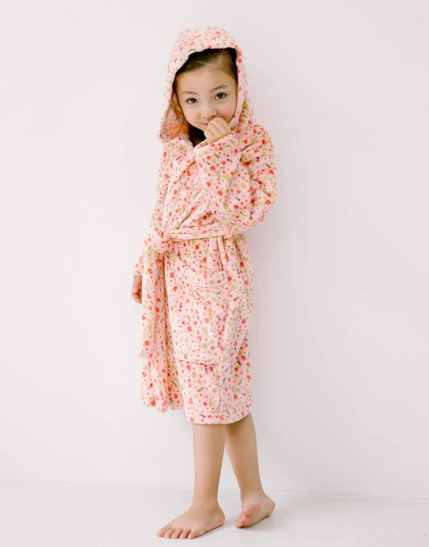 Vaenait baby Ultra Soft Plush Fleece Light Weight Kids Toddler Girls Hooded Bathrobes Sleepwear Robes 1-7 Years