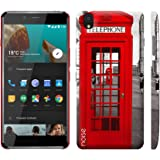 Noise OnePlus X Case/Back Cover + Free Tempered Glass, Noise Designer Premium PolyCarbonate Case Back Cover for OnePlus X [Slim fit, scratch & impact resistant MATTE finish] + Free Premium Tempered Glass (HD) - Screenguard (London Telephone Booth)