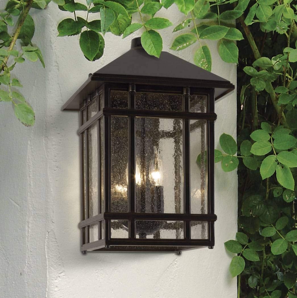 J du J Sierra Craftsman 15'' High Outdoor Wall Light