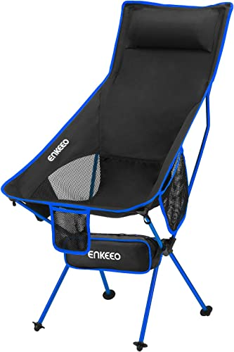 ENKEEO Camping Folding Chair Portable Lightweight Seat