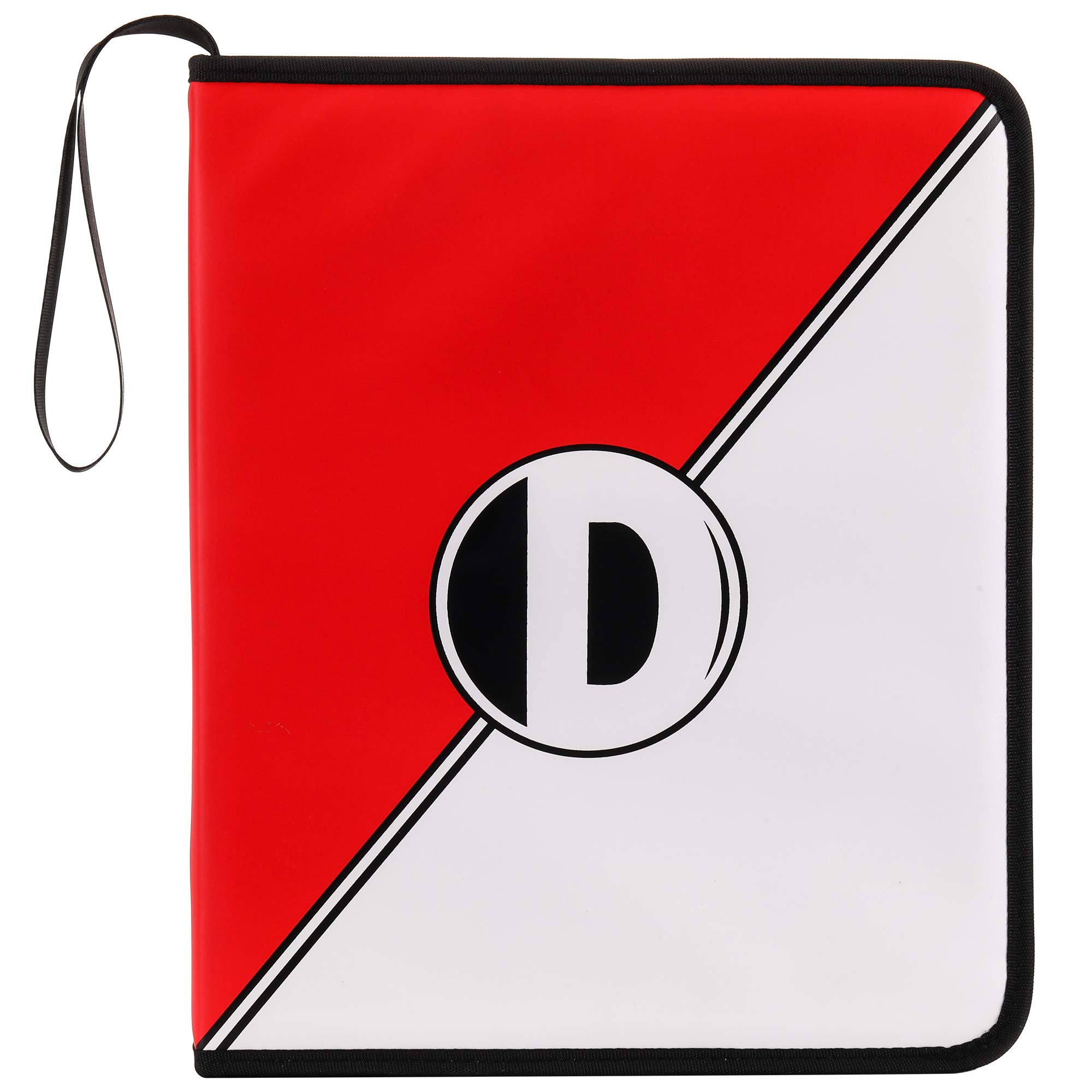 D DACCKIT Carrying Case Compatible with Pokemon Trading Cards, Cards Collectors Album with 30 Premium 9-Pocket Pages, Holds Up to 540 Cards(Red and White Version) by D DACCKIT (Image #2)