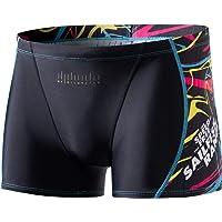 MY KILOMETRE Men's Square Leg Athletic Swim Jammers Durable Training Splice Swimsuit