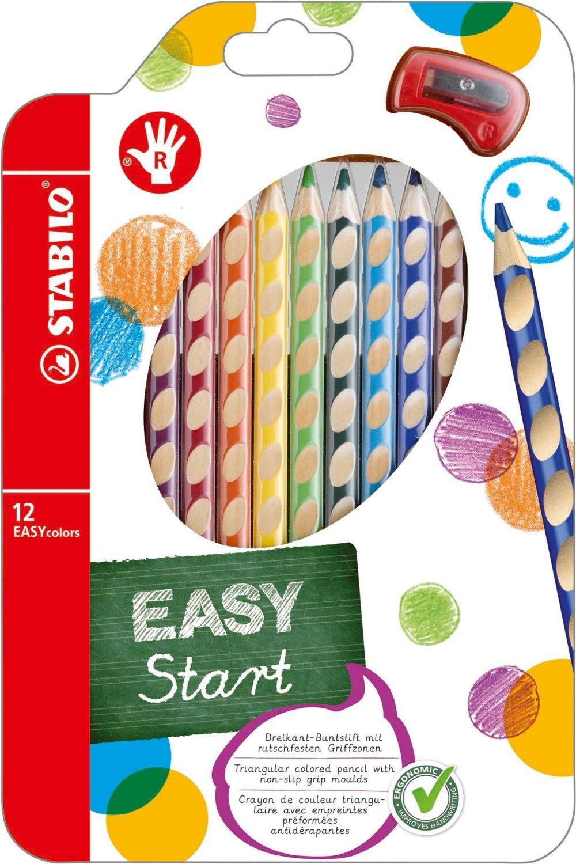 Stabilo 332/6 EASYcolors 6 Matite Ergonomiche, Multicolore Matitecolorate Pastelli